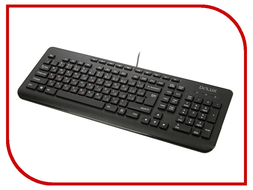 Клавиатура Delux DLK-02UB Black<br>