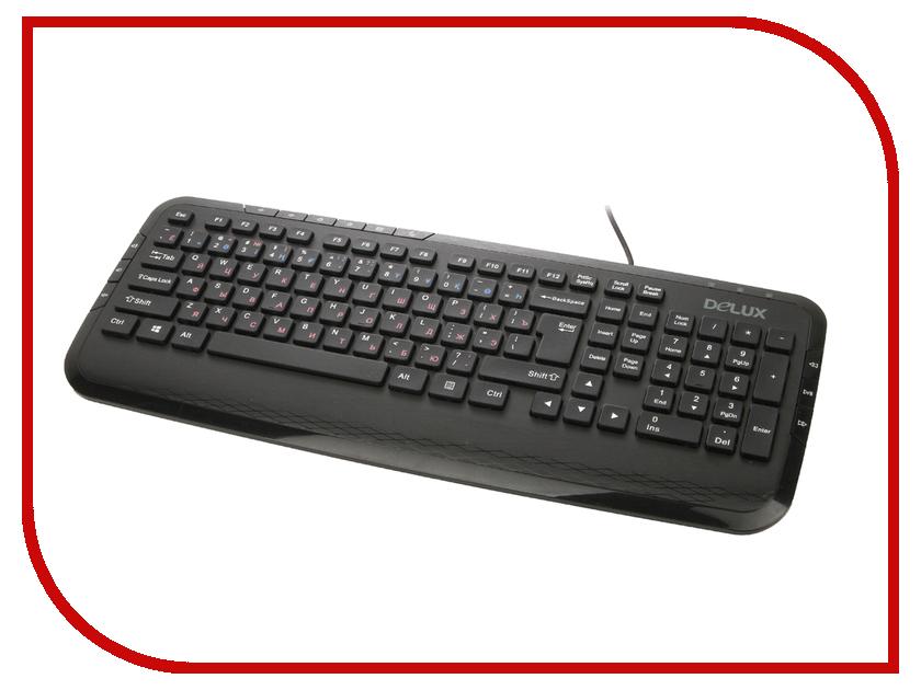 Клавиатура Delux DLK-160UB Black<br>