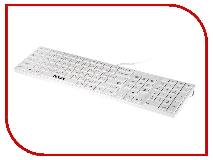 Клавиатура Delux DLK-1000UW White