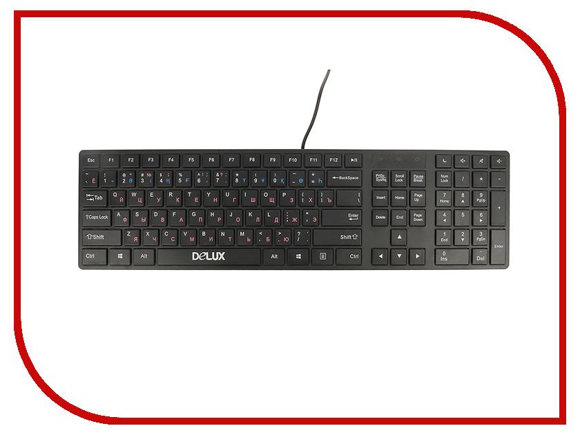 Клавиатура Delux K1000 Ultra-Slim USB Black
