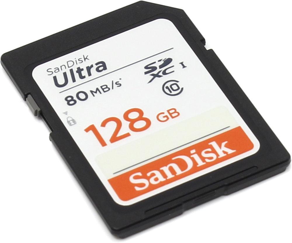 Карта памяти 128Gb - SanDisk Ultra Secure Digital XC Class 10 UHS-I SDSDUNC-128G-GN6IN sddd2 128g gam46