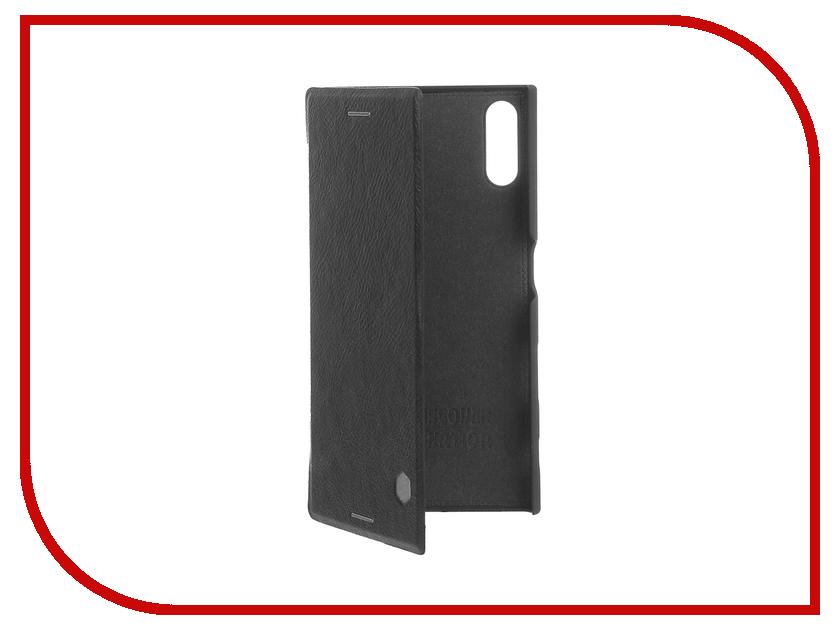 Аксессуар Чехол Sony Xperia XZ Nillkin QIN Black 12980 аксессуар чехол sony xperia x melkco black 12779