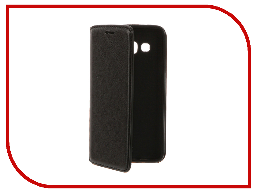 Аксессуар Чехол Samsung Galaxy A3 (2016) Cojess Book Case New Black с визитницей аксессуар чехол samsung galaxy a3 2017 cojess tpu 0 5mm transparent