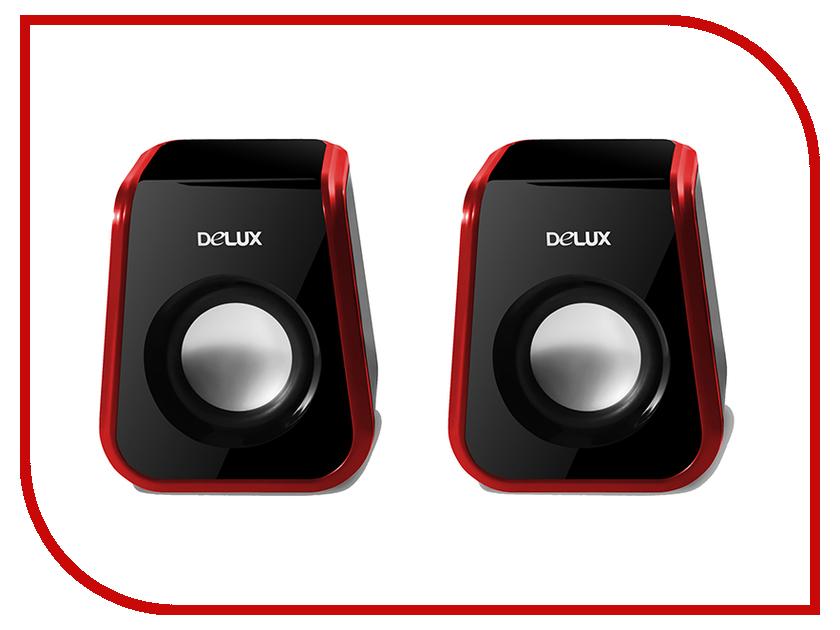 Колонки Delux DLS-Q1UR Black-Red<br>