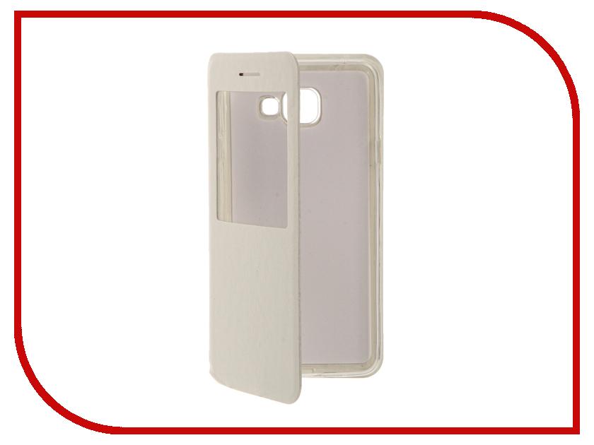 Аксессуар Чехол Samsung Galaxy A7 (2016) Cojess Book Case Time White с окном аксессуар чехол samsung galaxy a3 2016 cojess book case time black с окном