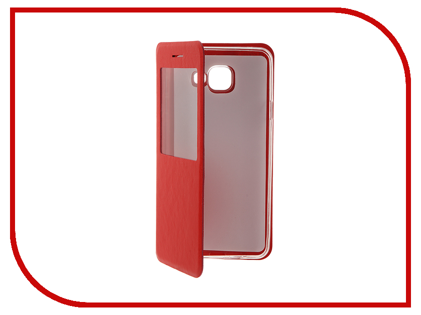 Аксессуар Чехол Samsung Galaxy A7 (2016) Cojess Book Case Time Red с окном аксессуар чехол samsung galaxy a7 2016 cojess silicone tpu 0 3mm transparent глянцевый