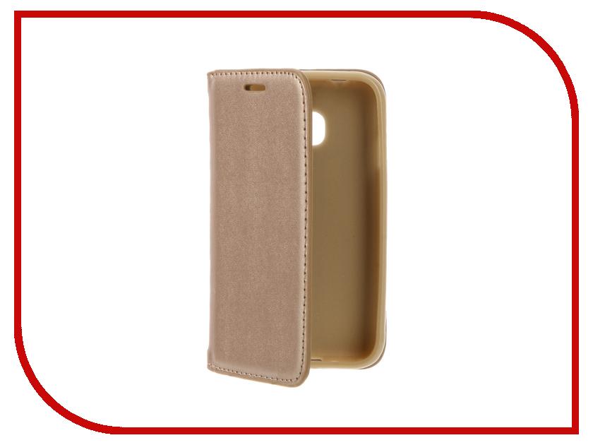 Аксессуар Чехол Samsung Galaxy J1 mini / J1 mini (2016) Cojess Book Case New Gold<br>