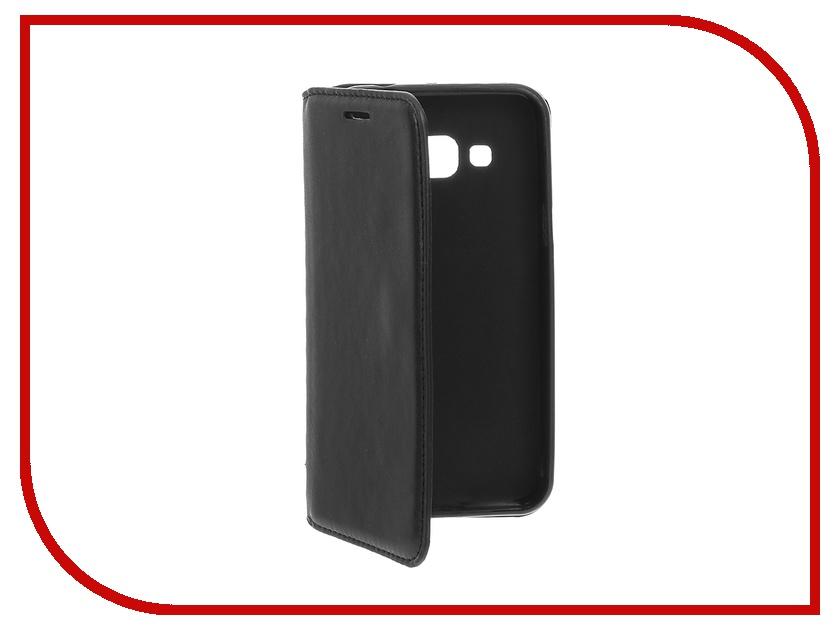 Аксессуар Чехол Samsung Galaxy J3 / J3 (2016) Cojess Book Case New Black аксессуар чехол samsung galaxy a3 2017 cojess tpu 0 3mm transparent