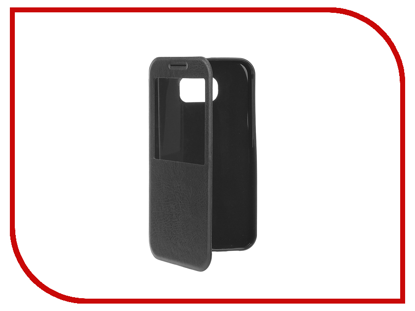 Аксессуар Чехол Samsung Galaxy S7 Plus Cojess Book Case Time Black с окном<br>