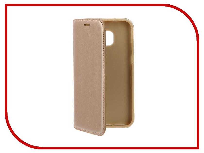 Аксессуар Чехол Samsung Galaxy S7 Cojess Book Case New Gold с визитницей<br>