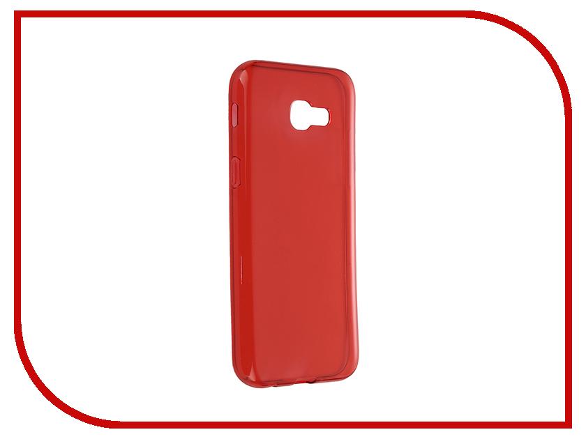 Аксессуар Чехол Samsung Galaxy A5 2017 iBox Crystal Red клип кейс ibox fresh для samsung galaxy s5 mini черный