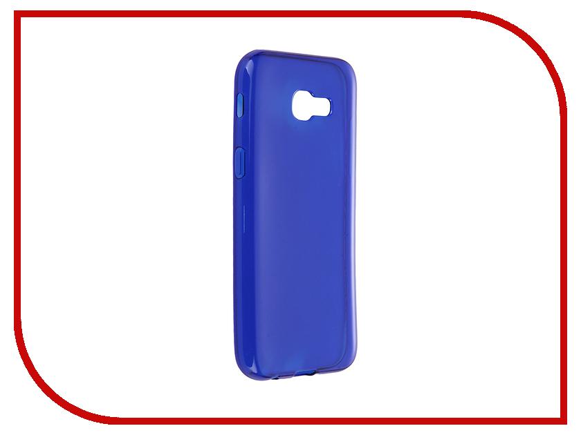 Аксессуар Чехол Samsung Galaxy A5 2017 iBox Crystal Blue клип кейс ibox blaze для samsung galaxy a3 2016 черный