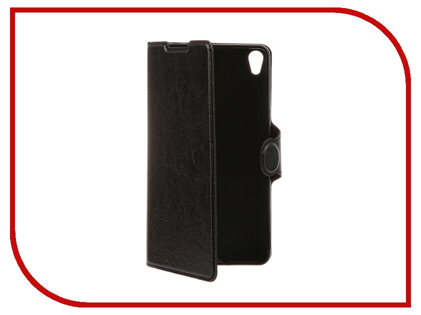 Аксессуар Чехол Sony Xperia E5 Red Line Book Type Black<br>
