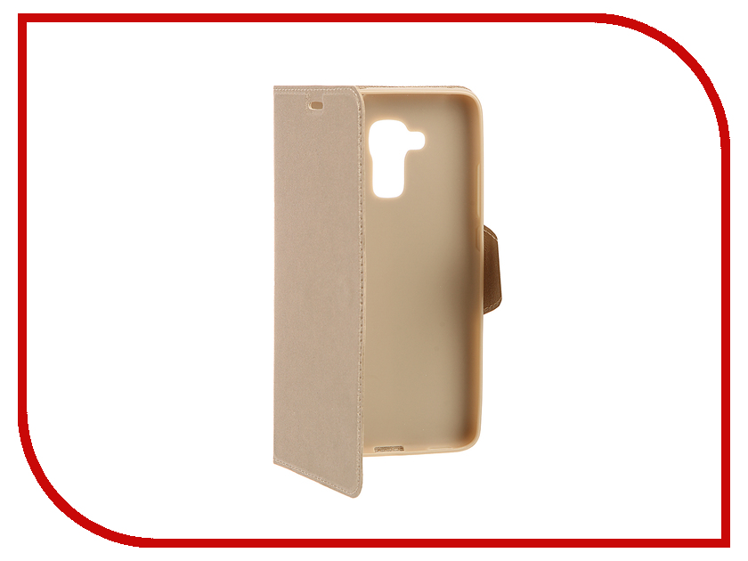 Аксессуар Чехол Huawei Honor 5C Red Line Book Type Gold<br>