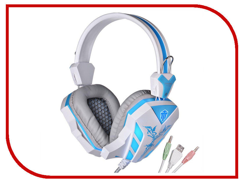 Гарнитура Cosonic CH-6118A White-Blue<br>
