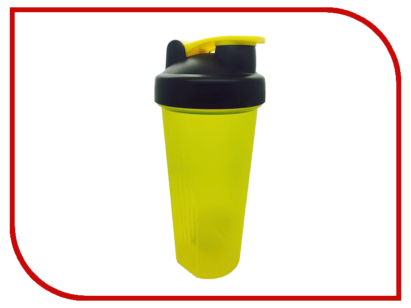 Шейкер Спортивный Элемент S01-600 600ml Yellow Transparent-Black-Yellow<br>