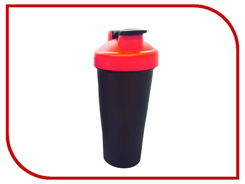 Шейкер Спортивный Элемент S01-600 600ml Black Transparent-Red-Black<br>