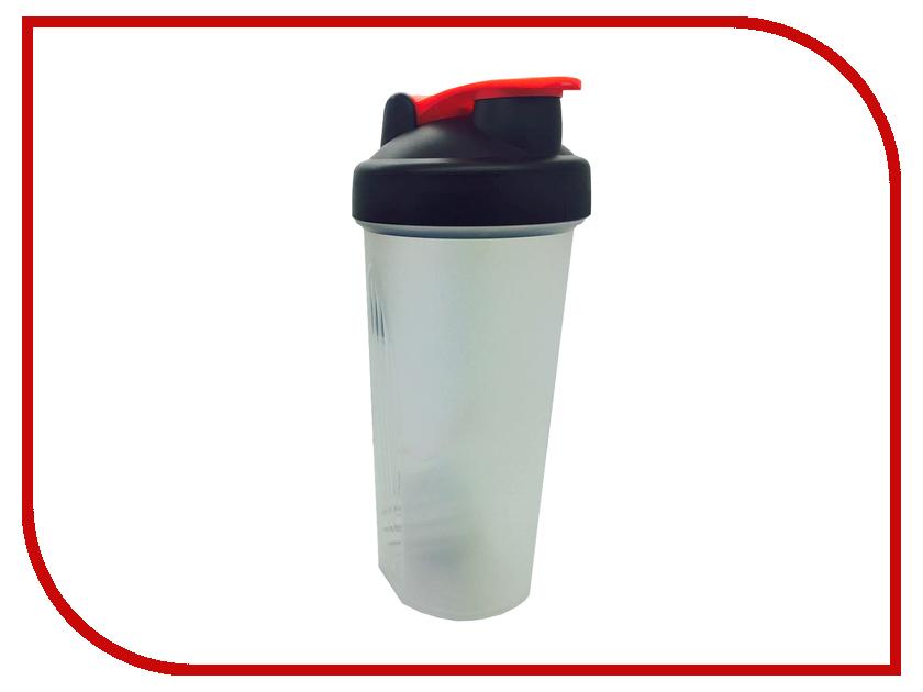 Шейкер Спортивный Элемент S01-600 600ml Transparent-Black-Red<br>