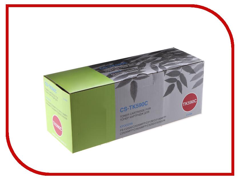 Картридж Cactus CS-TK590C Cyan для Kyocera FS-C2026MFP/C2126MFP/C2526MFP/C2626MFP/C5250DN<br>