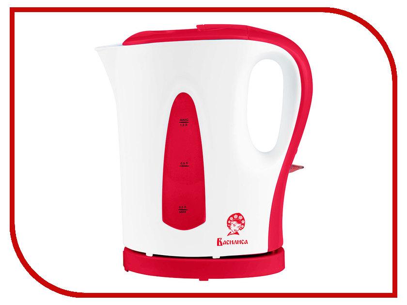 Чайник Василиса T21-1200 White-Red