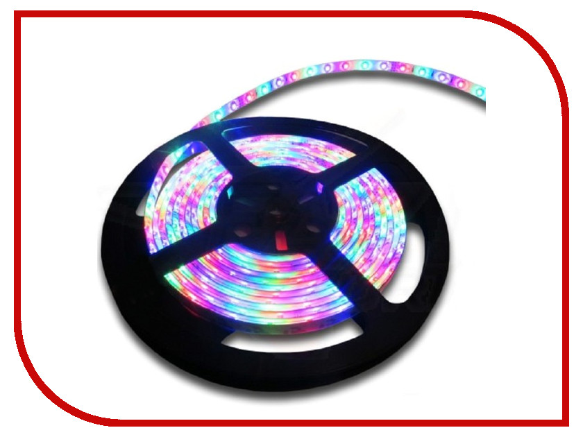 Светодиодная лента SWGroup SMD5050 14.4W 12V 60 LED/m 5m IP65 RGB светодиодная лента swgroup эко smd2835 4 8w 12v 60 led m 5m ip20 ip30 warm white