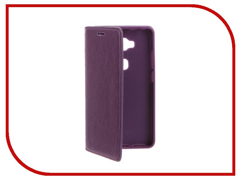 Аксессуар Чехол Huawei Honor 5X Cojess Book Case New Purple<br>