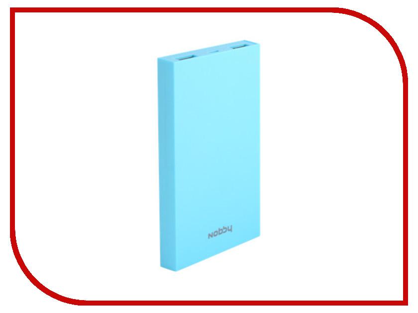 Аккумулятор Nobby Practic 029-001 8000mAh 2xUSB 2A Turquoise чехол универсальный nobby comfort wm 001 для телефонов s кожа черный