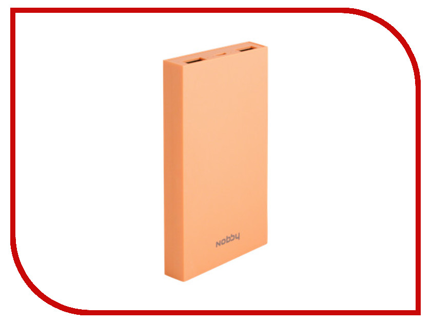 Аккумулятор Nobby Practic 029-001 8000 mAh 2xUSB 2A Peach<br>