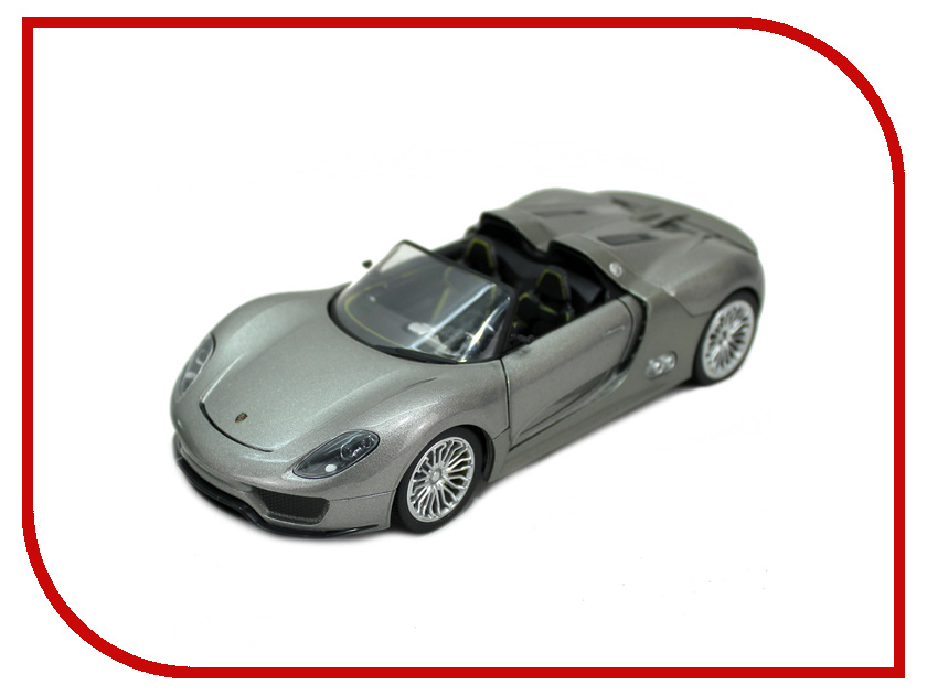Машина Hoffmann Porsche 918 Spyder Concept 49946 автомобиль hoffmann porsche 918 spyder concept 1 24 серебристый