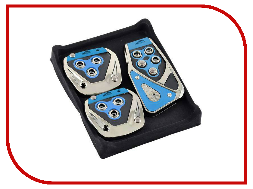 Аксессуар Nova Bright Накладки на педали Blue 33751