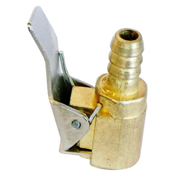 Наконечник насоса быстросъемный, металический с клапаном, бронзовый 32200