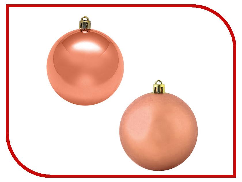 Украшение Kaemingk Набор шаров 6шт Orange 022147 набор шаров волны фиолетовый пластик 6шт 6см