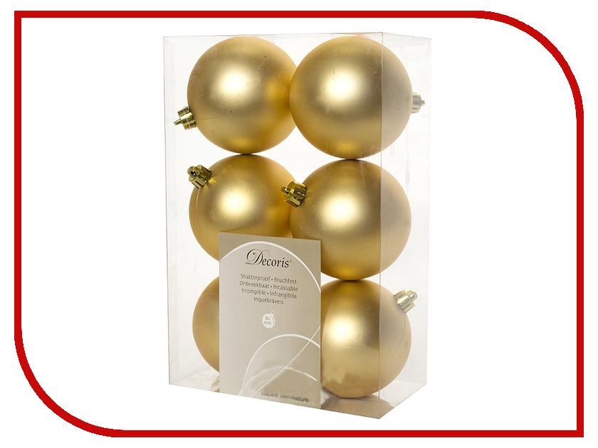 Украшение Kaemingk Набор шаров 6шт Gold 945531M<br>