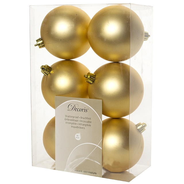 цена на Украшение Kaemingk Набор шаров 6шт Gold 945531M