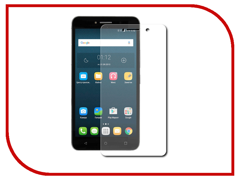 Аксессуар Защитное стекло Alcatel OneTouch 8050 Pixi 4 (6) Red Line Tempered Glass аксессуар чехол alcatel onetouch 4024 pixi first red line book type sleek white