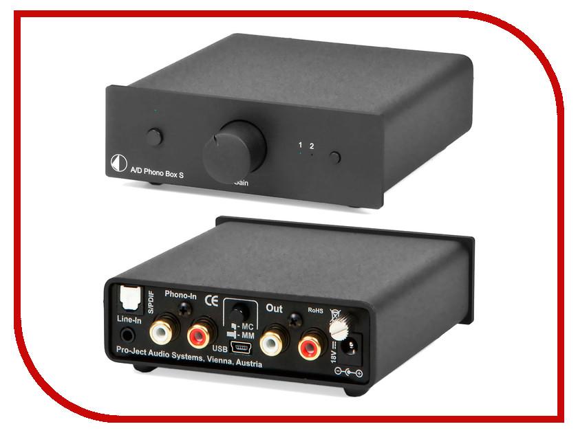 Фонокорректор Pro-Ject MM/MC A/D PHONO BOX S Black<br>