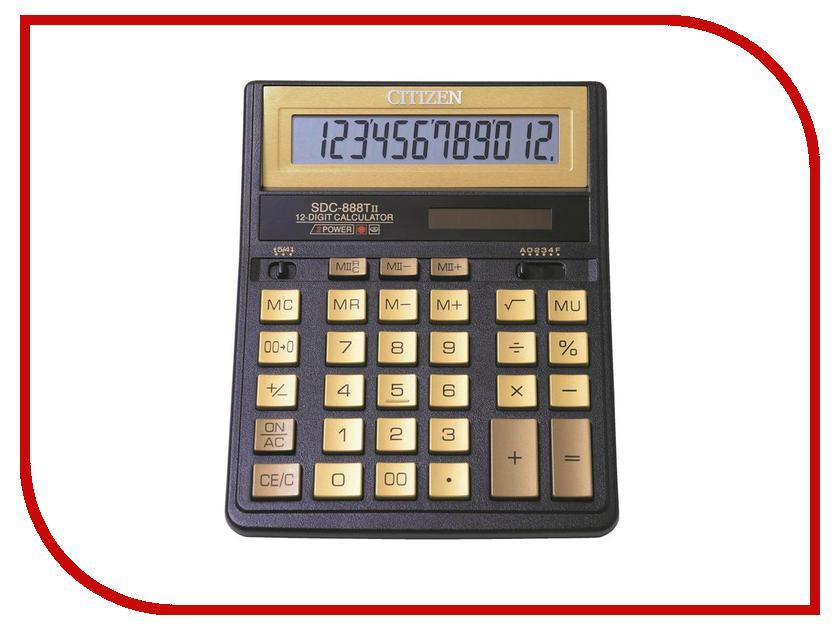 Калькулятор Citizen SDC-888TIIGE Gold - двойное питание калькулятор citizen sdc 395n sdc 395 n