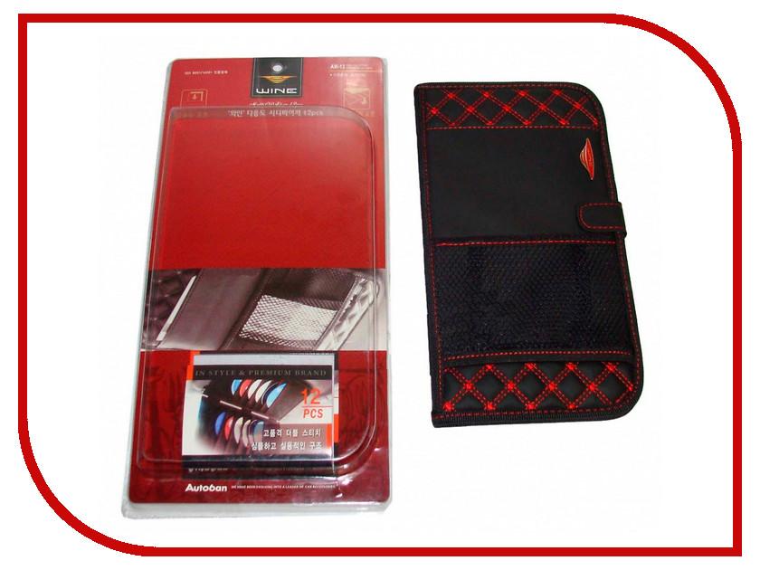 Органайзер AUTOBAN Держатель CD дисков Black-Red 37864 стеллаж для cd дисков хай тек купить для дома