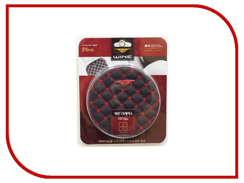 Органайзер AUTOBAN Держатель CD дисков Black-Red 37866