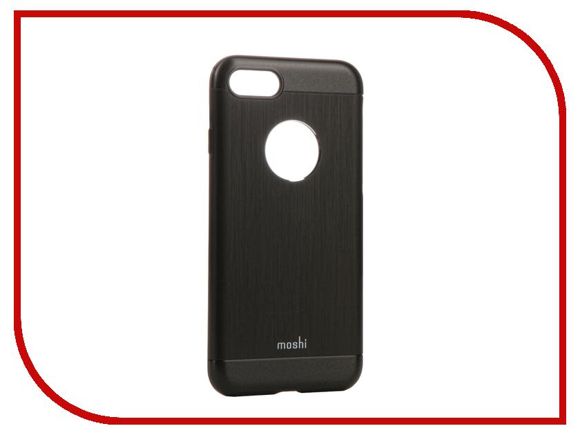 Аксессуар Чехол Moshi Armour для APPLE iPhone 7 Onyx Black 99MO088004 аксессуар чехол df soft touch для apple iphone 7 islim 05