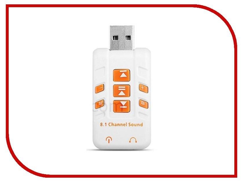 Звуковая карта Orient AU-01PLW 2x3.5mm jack to USB White звуковая карта orient au 01n 3 5mm jack to usb