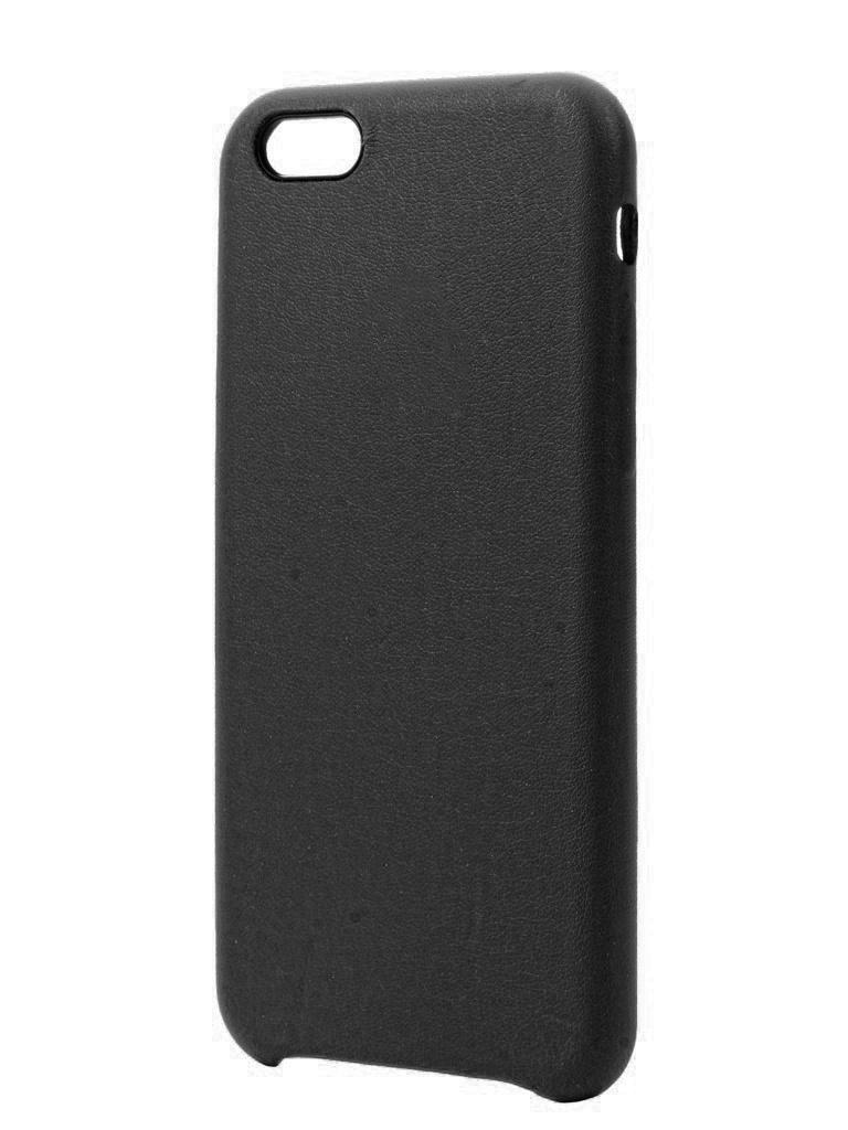 Аксессуар Чехол Krutoff для APPLE iPhone 6 / 6S Leather Case Black 10750 стоимость