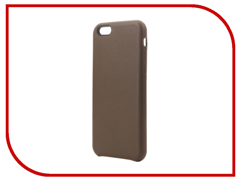 Аксессуар Чехол для APPLE iPhone 6 / 6S Krutoff Leather Case Dark Brown 10756