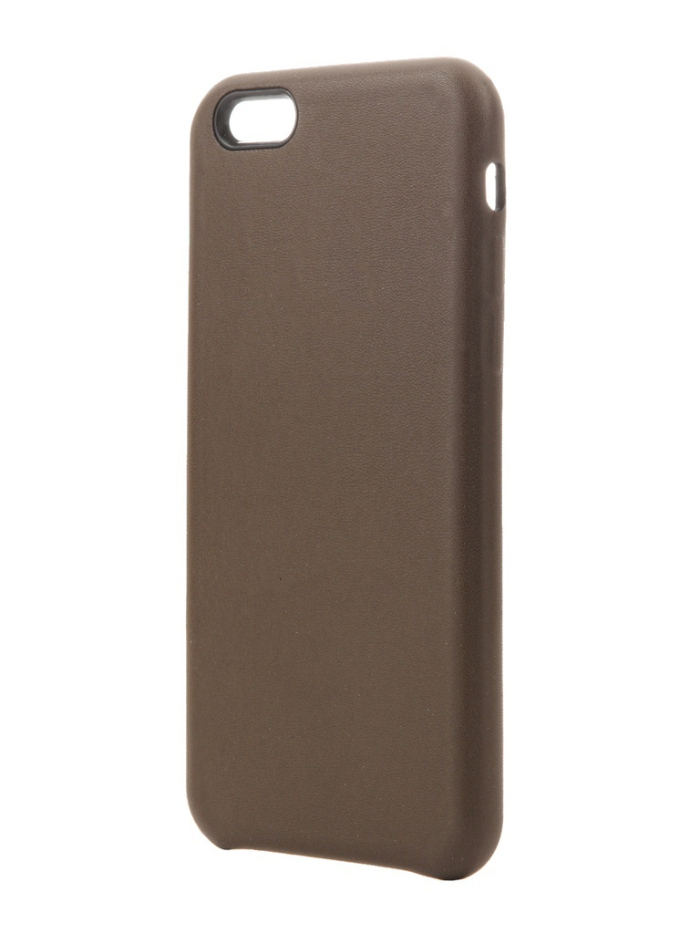 Аксессуар Чехол Krutoff для APPLE iPhone 6 / 6S Leather Case Dark Brown 10756