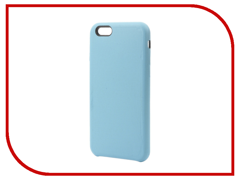Аксессуар Чехол Krutoff Leather Case для iPhone 6 / 6S Light Blue 10753