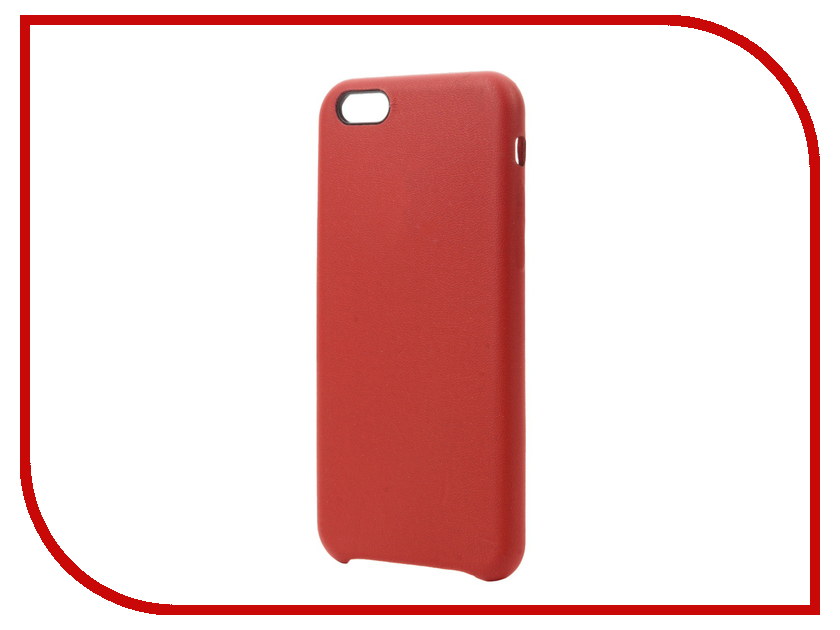 Аксессуар Чехол Krutoff Leather Case для iPhone 6/6S Red 10755 love mei water dirt shockproof protective metal case for iphone 6