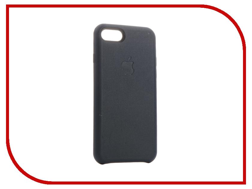 Аксессуар Чехол Krutoff Leather Case для iPhone 7 Dark Blue 10768 аксессуар чехол аккумулятор krutoff x4 3800 mah для iphone 6 black 48186