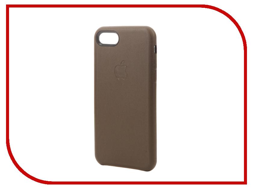 Аксессуар Чехол Krutoff Leather Case для iPhone 7 Dark Brown 10765 аксессуар чехол аккумулятор krutoff x4 3800 mah для iphone 6 black 48186