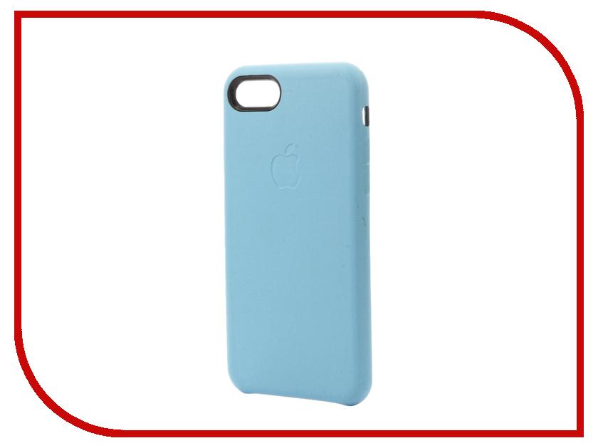 Аксессуар Чехол Krutoff Leather Case для iPhone 7 Light Blue 10764<br>