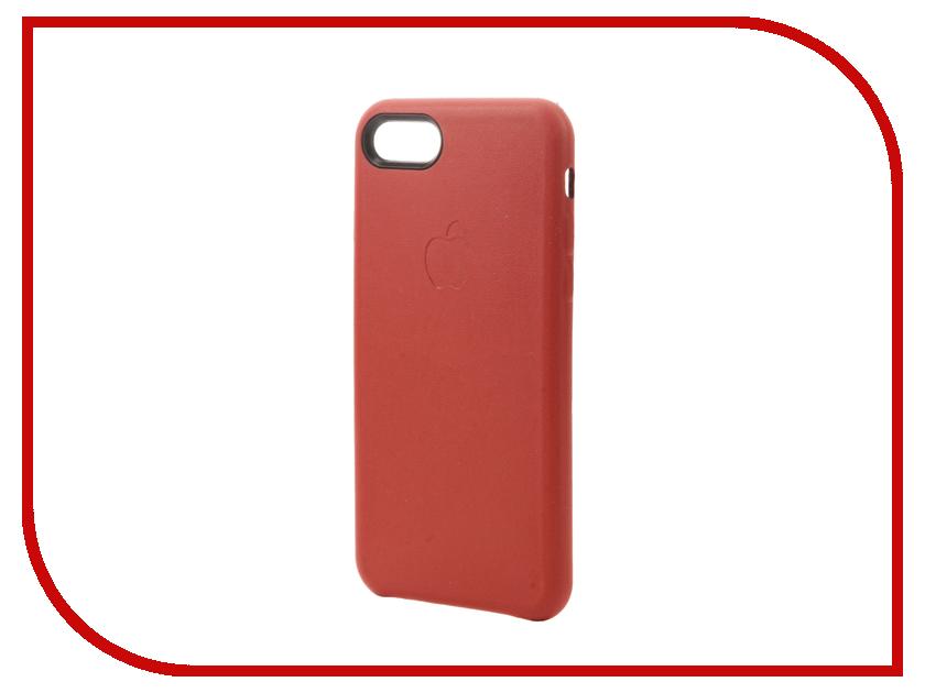 Аксессуар Чехол Krutoff Leather Case для iPhone 7 Red 10767<br>